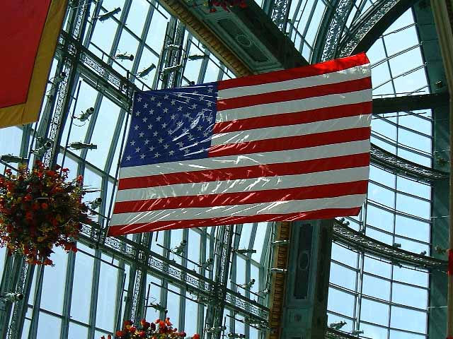 Flag in Bellagio atrium
