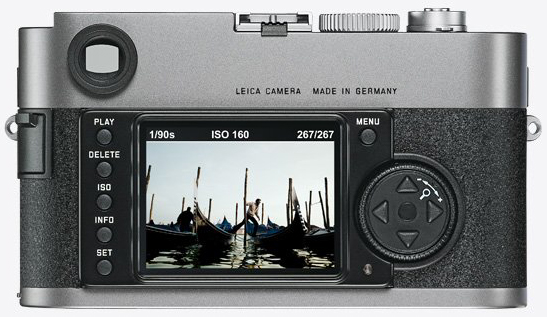 Leica M9 back view.