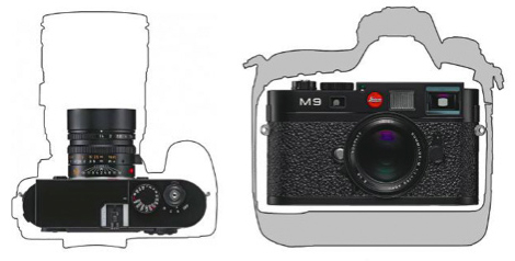 Leica M9 size compared.